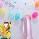 家で1歳のお誕生日会。バルーン飾り付けや離乳食ケーキの実例【写真】