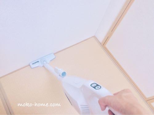 マキタCL107FDSHWで和室の隅を掃除
