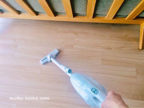 マキタCL107FDSHWで掃除がけし終わった綺麗な床