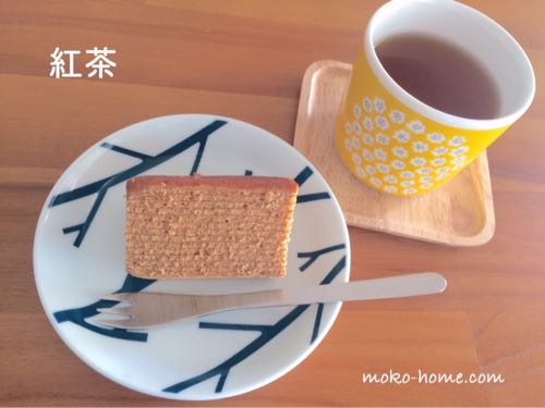 無印良品の紅茶バウムとはと麦レモングラスティー
