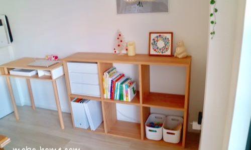 無印良品スタッキングシェルフの収納例|おもちゃと絵本にもぴったり
