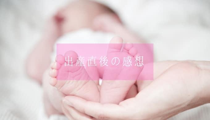 初産・出産体験談レポート・赤ちゃんに会った感想