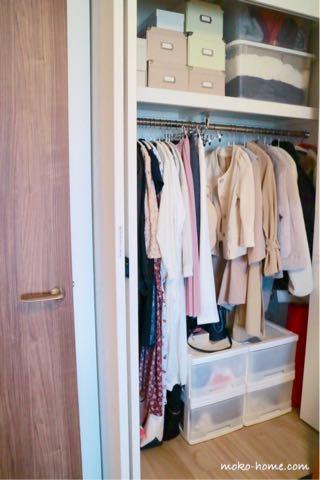 マンションの狭いクローゼット収納方法・収納例|ブログ