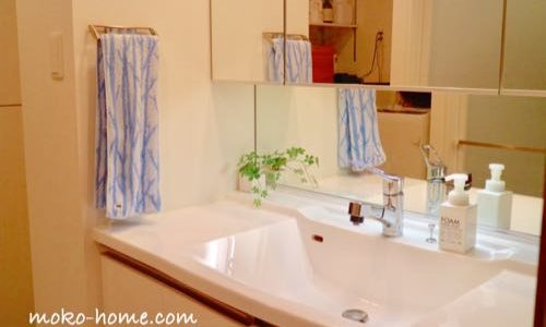 【Web内覧会】シンプルなマンションの洗面所|隠す収納と愛用品