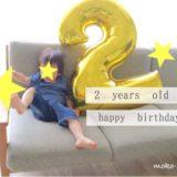 2歳の誕生日の過ごし方|特に何もせず、プレゼントとケーキでお祝い
