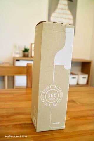 HARIO(ハリオ)フィルターインボトルのレビュー|届いたときの箱