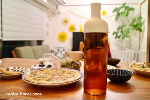 HARIO(ハリオ)フィルターインボトルのレビュー|食洗機対応の麦茶ポット