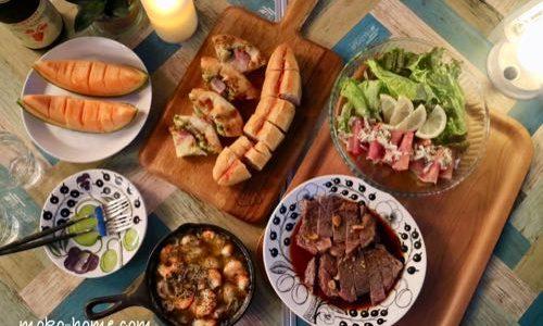 ベランダピクニックで使った道具と食器|マンションで愉しむ夜の時間
