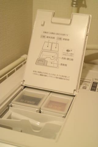パナソニック ドラム式洗濯乾燥機NA-VX800ALの洗剤投入口