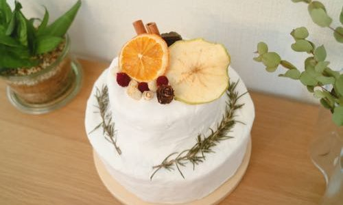 息子のハーフバースデーで手作りしたクレイケーキ