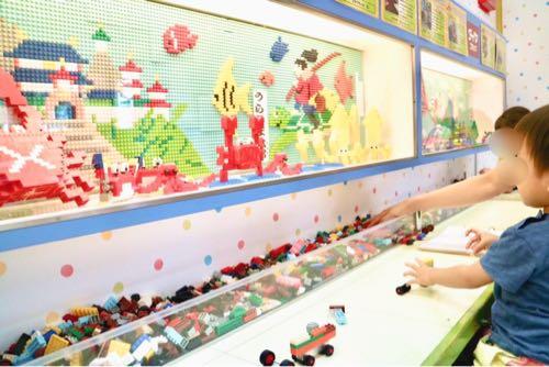東条湖おもちゃ王国のダイヤブロックワールド